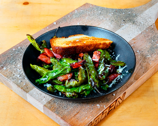Baked Shishito peppers